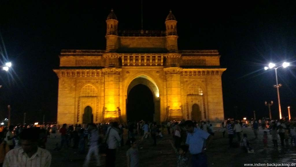 Gateway of India bei Nacht